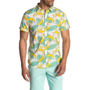 ⬇️ M,L,XL 🍌 Banana Print Button Up Shirt